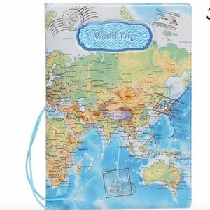 Passport cover world map